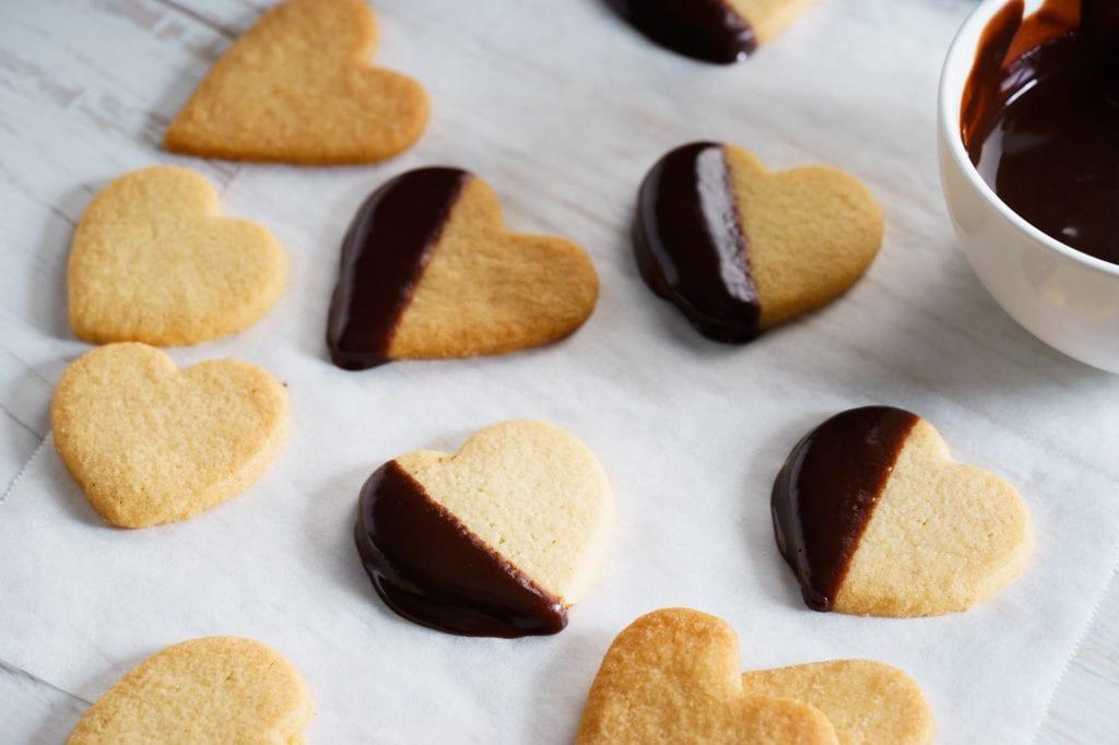 Chocolate Rose Petal Cookies
