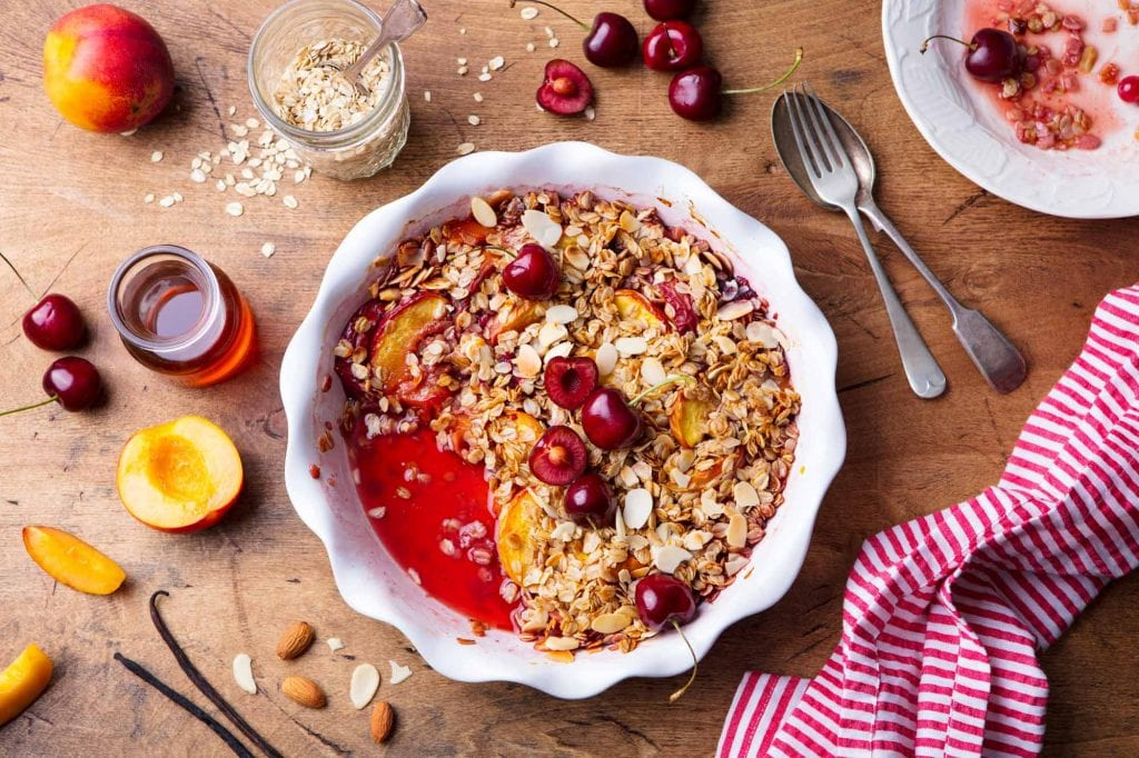 Peach and Berry crumble
